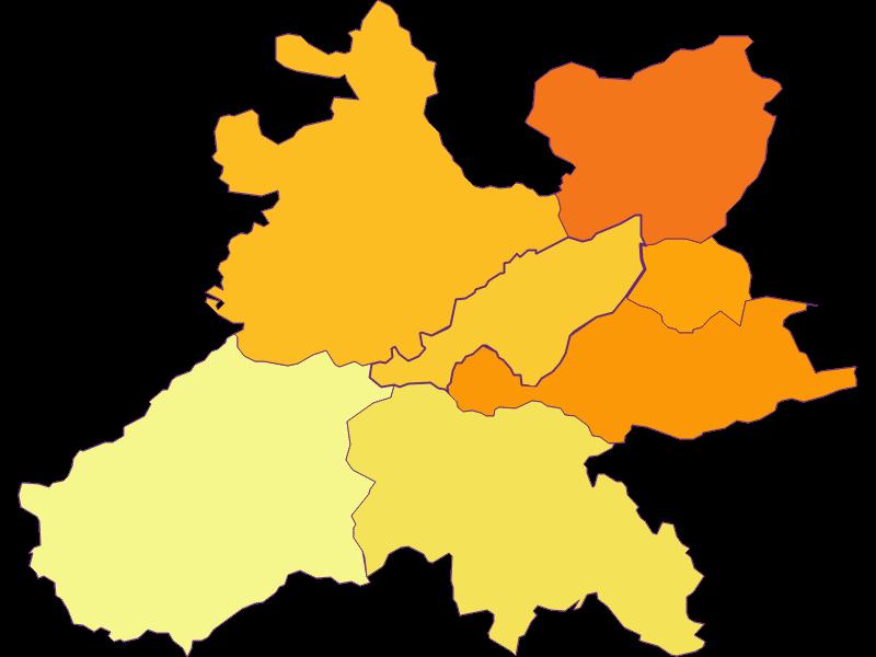 Плотность населения в Wolfsgraben