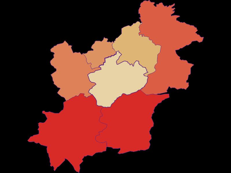 Population development since 1900 in Göstling an der Ybbs