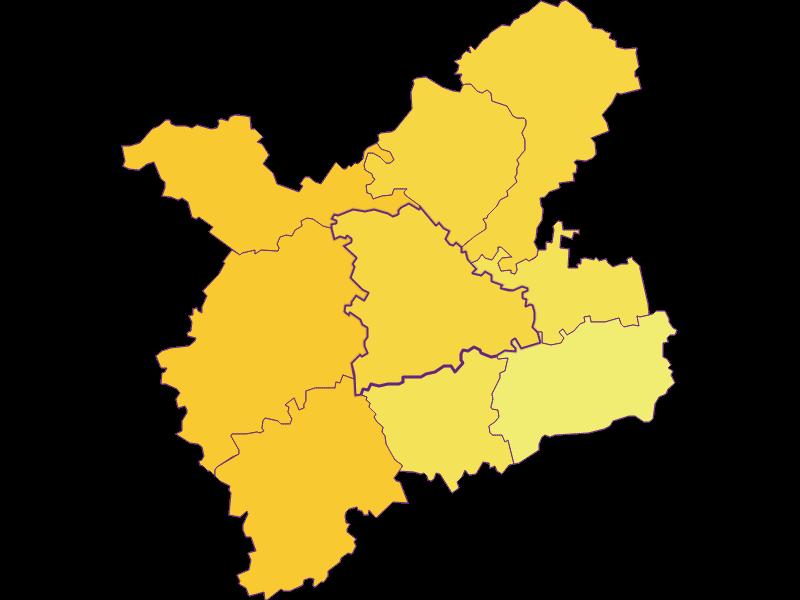 Population density in Oberndorf an der Melk