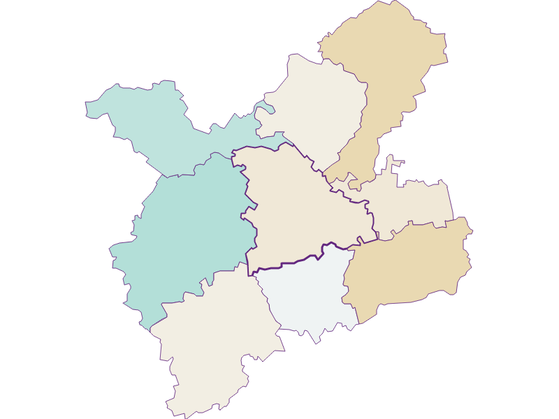 Population development since 1869 in Oberndorf an der Melk