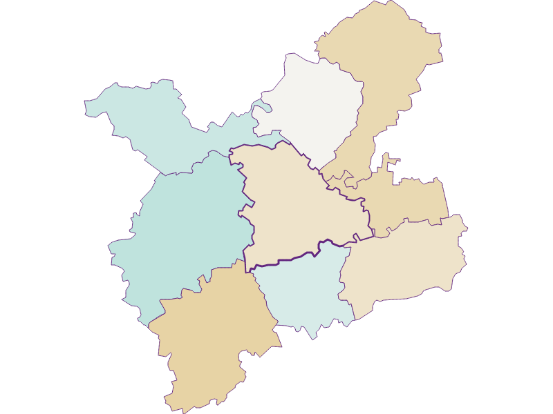 Population development since 1900 in Oberndorf an der Melk