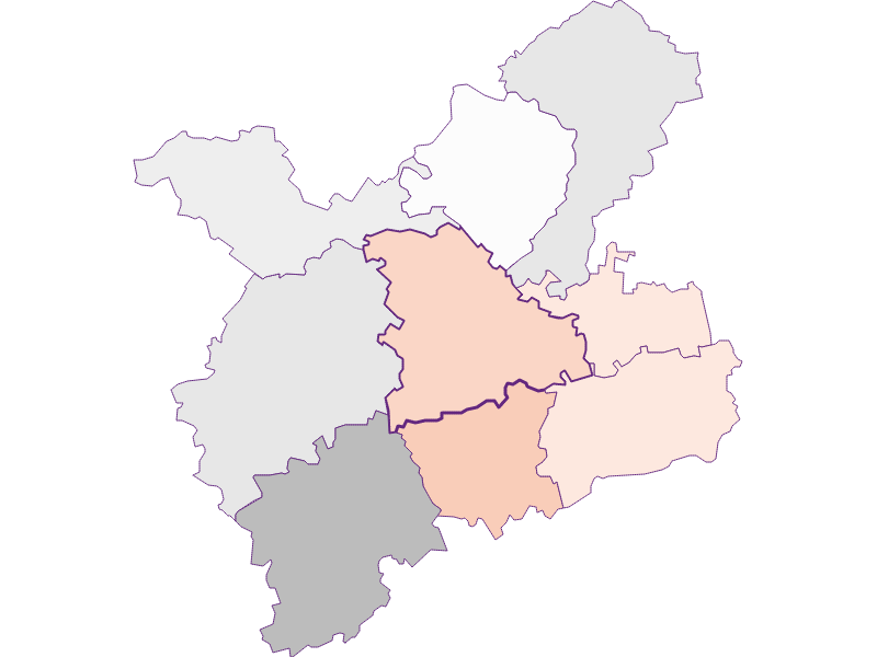 Farmers (comparison to federal state) in Oberndorf an der Melk