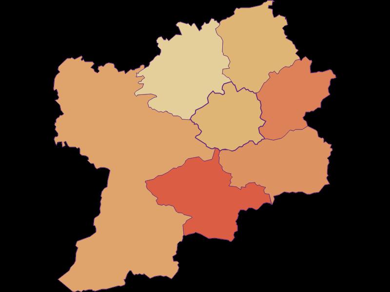 Population development since 2011 in Puchenstuben