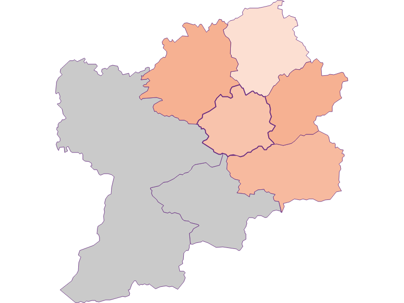 Farmers (comparison to federal state) in Puchenstuben