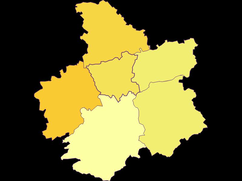 Плотность населения в St. Georgen an der Leys