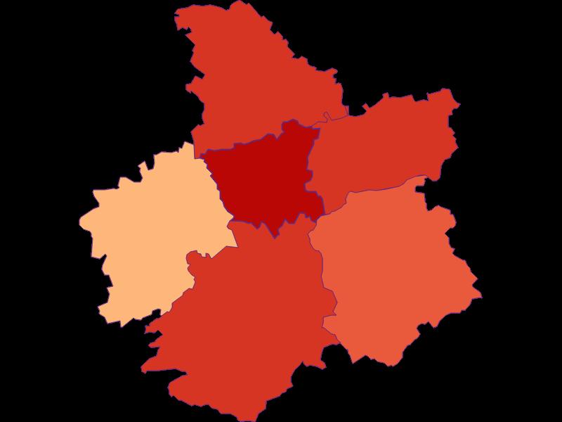 Размер домохозяйства в St. Georgen an der Leys