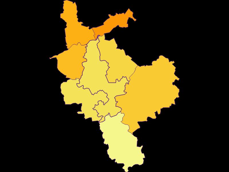 Плотность населения в Steinakirchen am Forst
