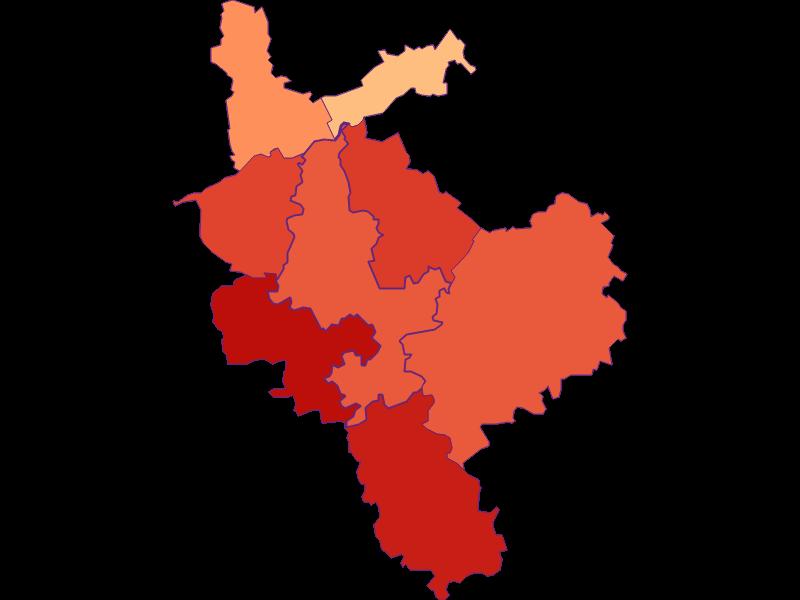 Размер домохозяйства в Steinakirchen am Forst