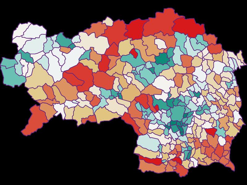 Bevölkerungsentwicklung seit 1869 | Steiermark