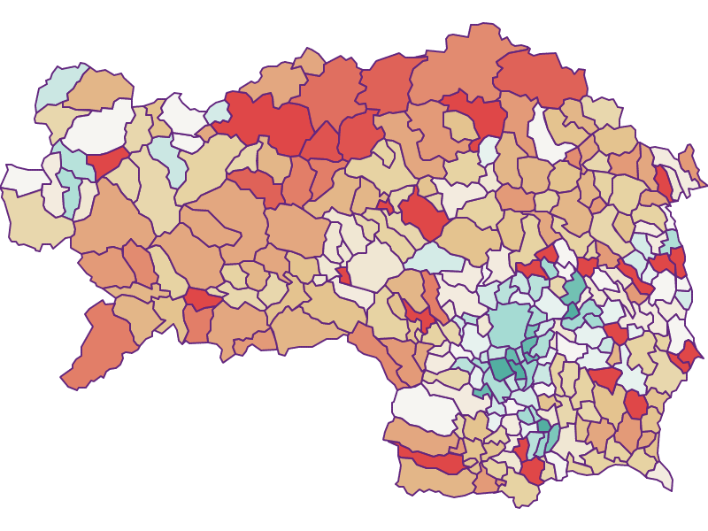 Population development 2011-2018: Styria - Austria - Geography, business and economics, statistics | Similio