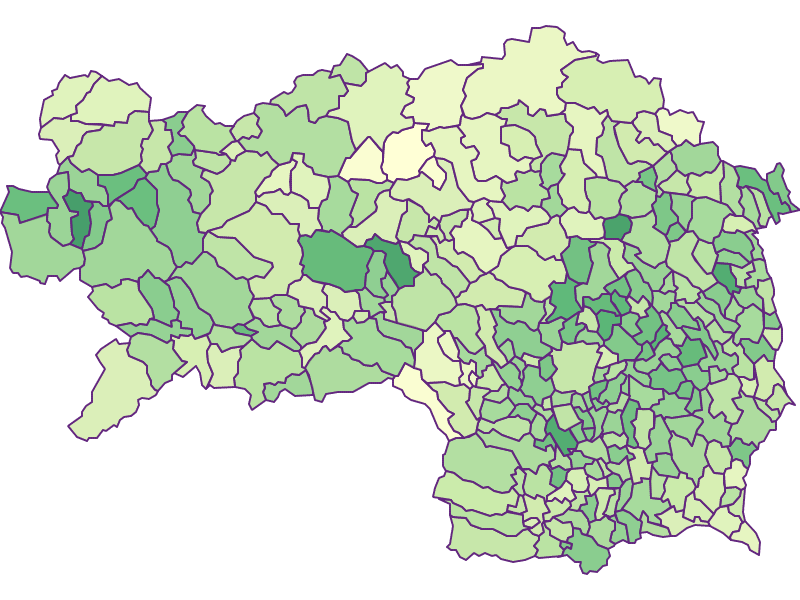Under 15: Styria - Austria - Geography, business and economics, statistics | Similio