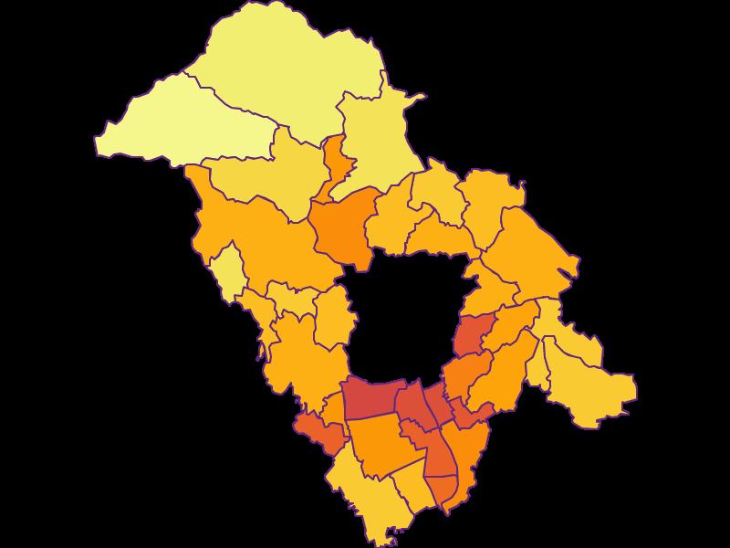 Population density in Graz-Umgebung
