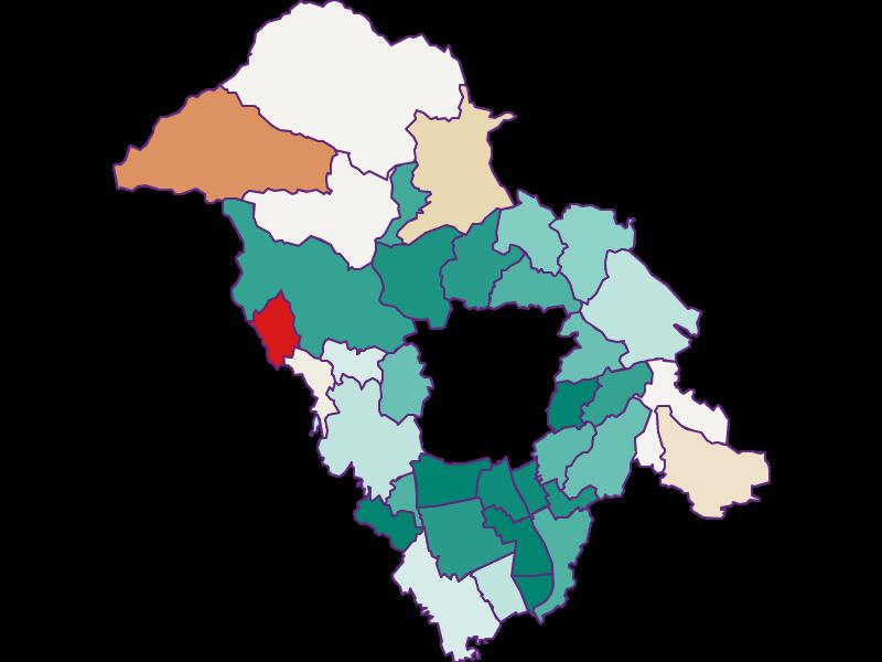 Population development since 1869 in Graz-Umgebung