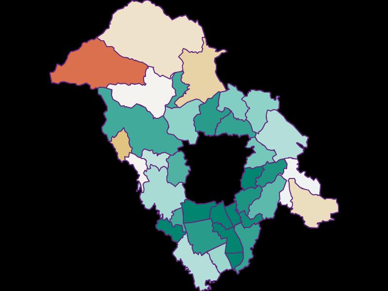 Population development since 1900 in Graz-Umgebung