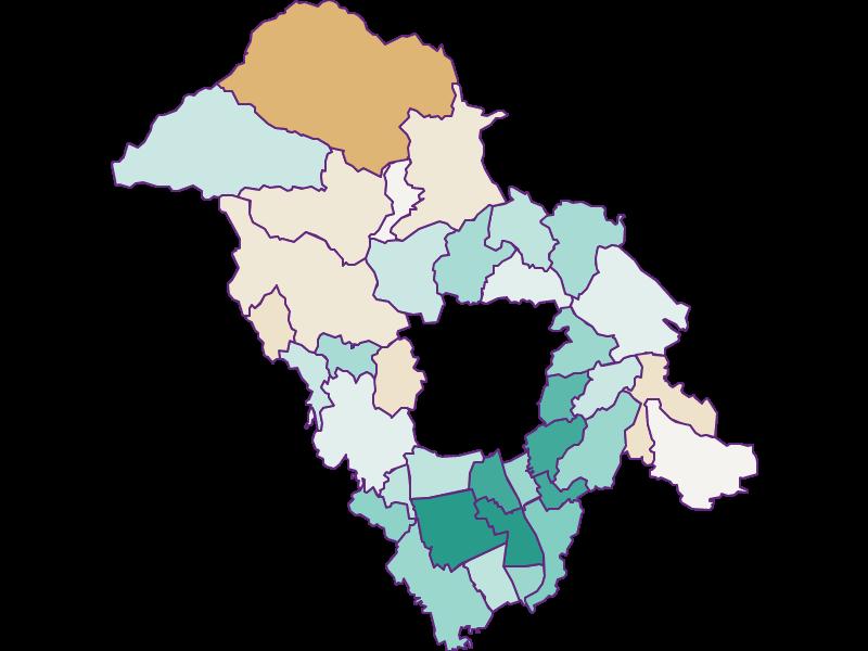 Population development since 2011 in Graz-Umgebung