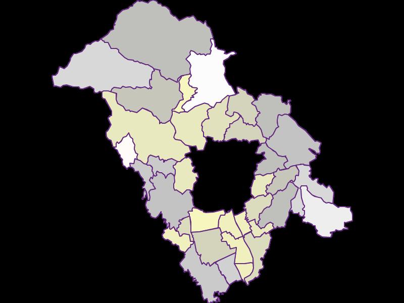 Farmers (comparison to federal state) in Graz-Umgebung