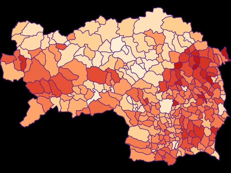 Размер домохозяйства в Steiermark
