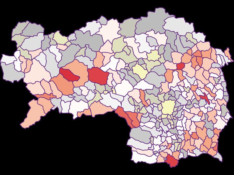 Фермеры (сравнение по Австрии) в Steiermark