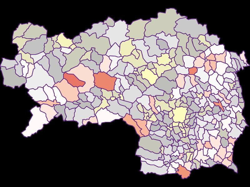 Фермеры (сравнение по Фед. землям) в Steiermark