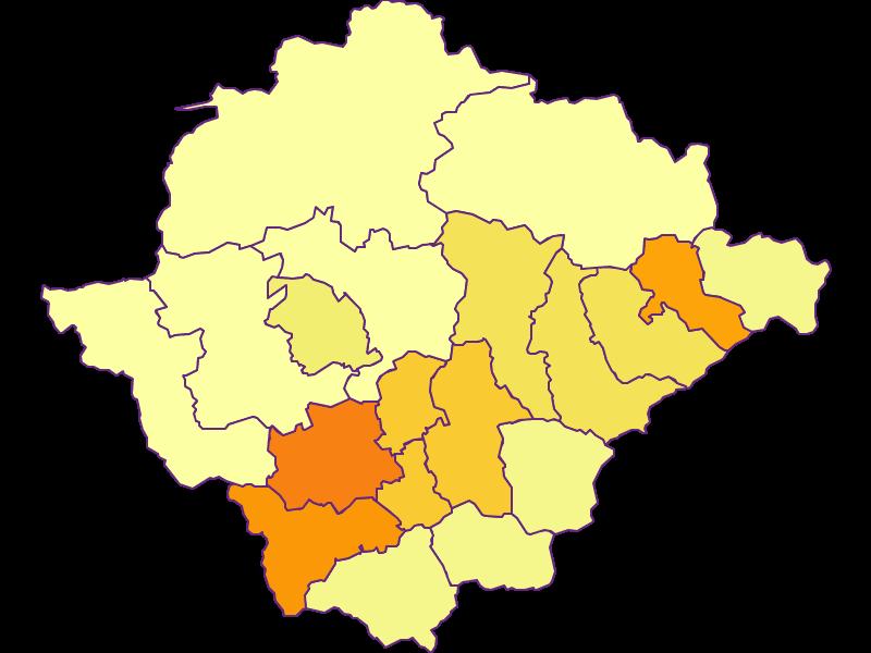 Плотность населения в Bruck-Mürzzuschlag
