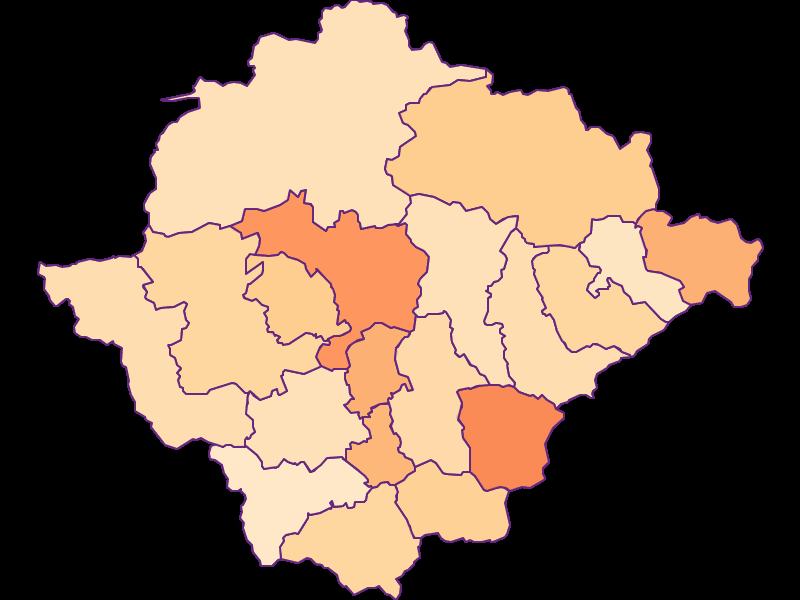 Размер домохозяйства в Bruck-Mürzzuschlag