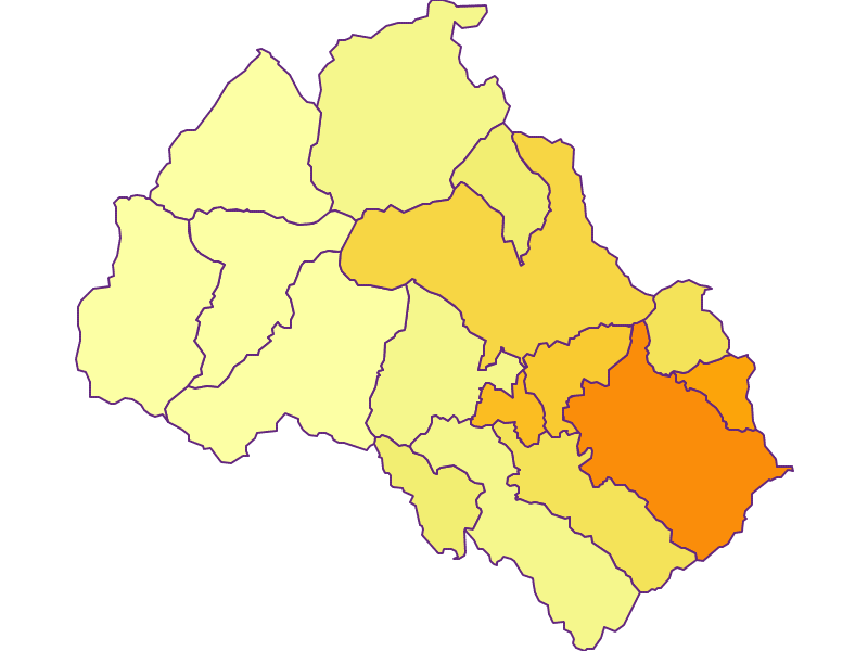 Population density in Leoben