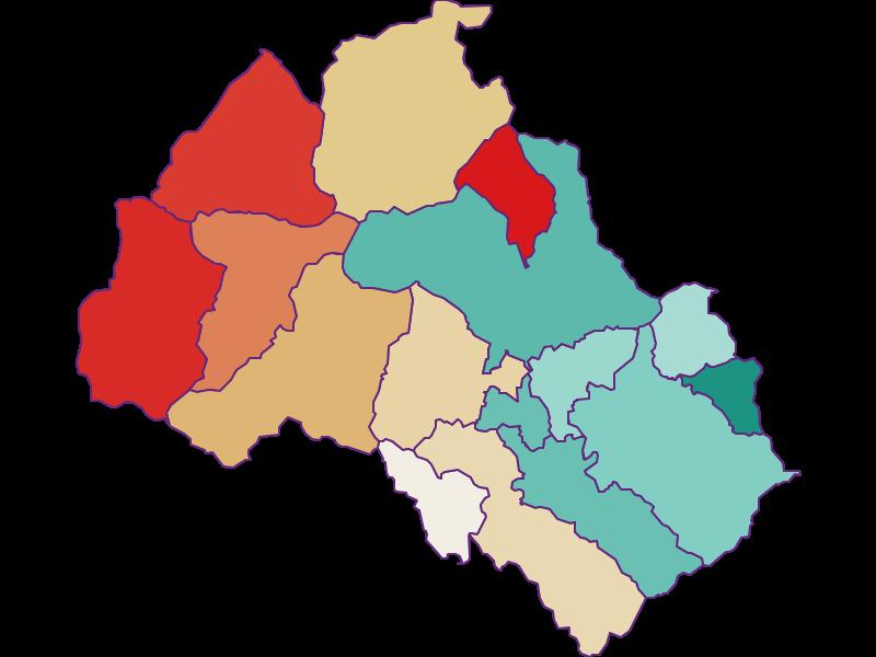Population development since 1869 in Leoben