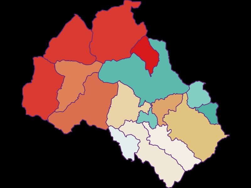 Population development since 1900 in Leoben