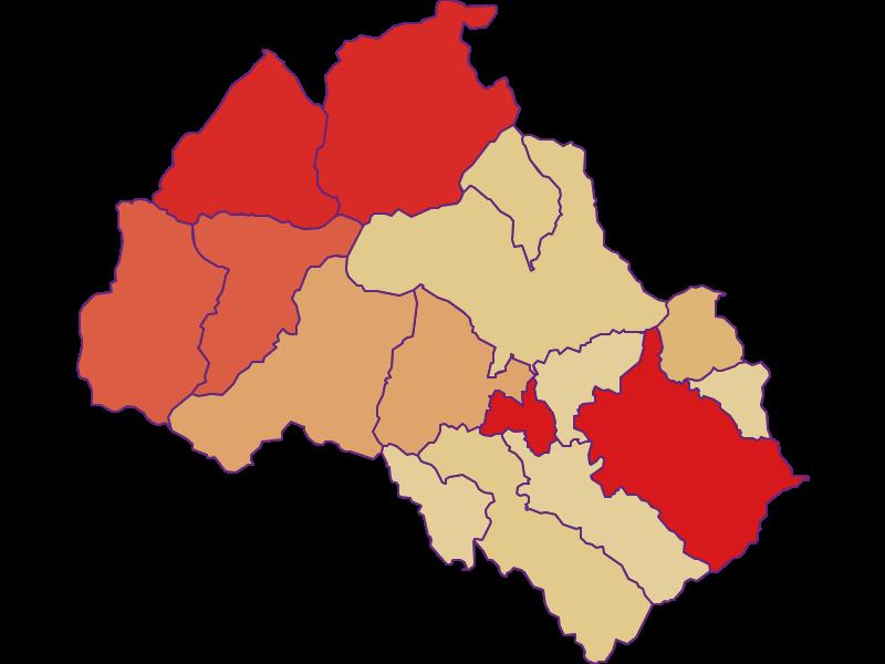 Population development since 2011 in Leoben