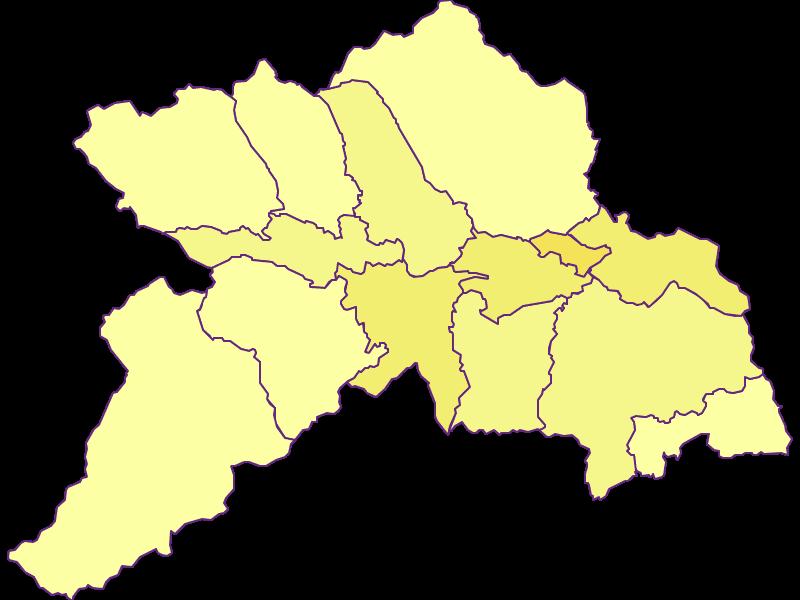 Population density in Murau