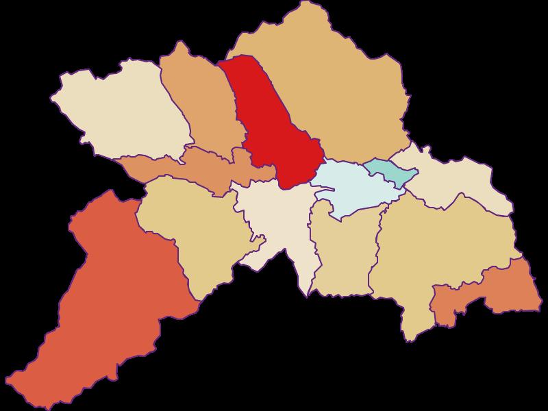 Population development since 1900 in Murau