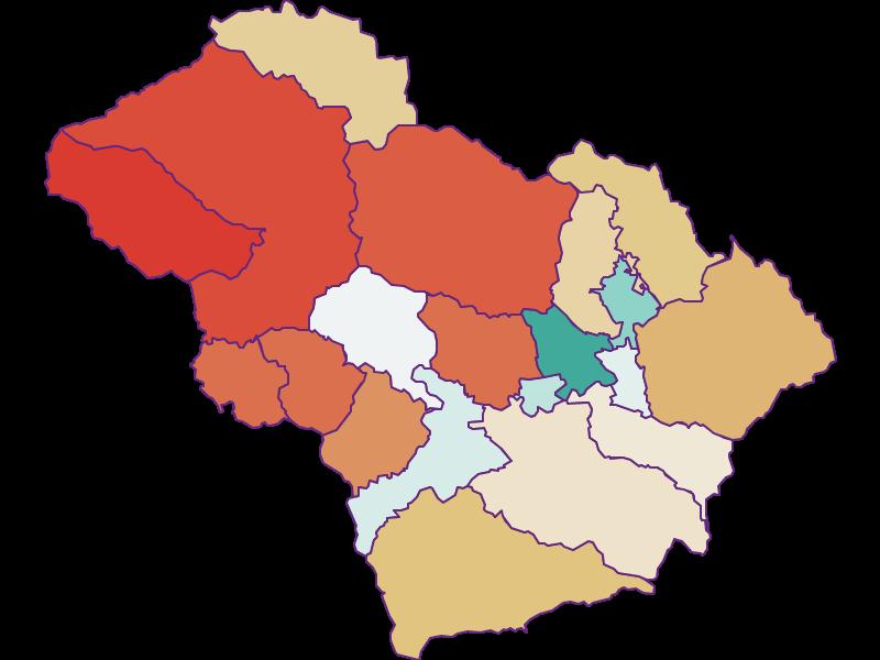 Демография с 1900 года в Murtal