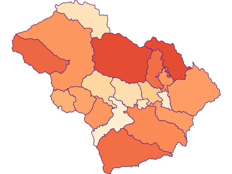 Размер домохозяйства в Murtal