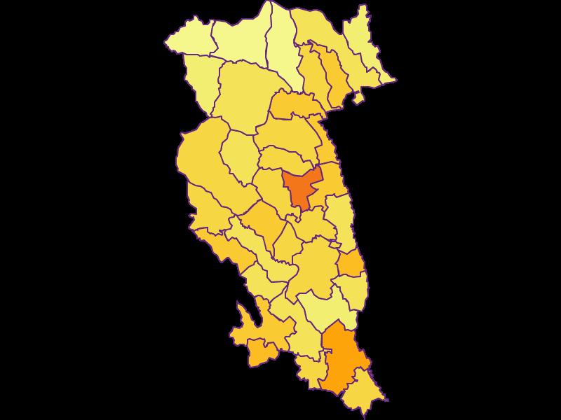 Population density in Hartberg-Fürstenfeld