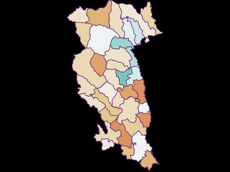 Population development since 1869 in Hartberg-Fürstenfeld