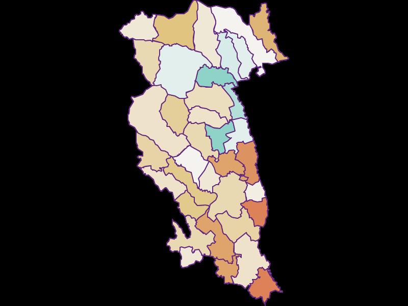 Population development since 1900 in Hartberg-Fürstenfeld