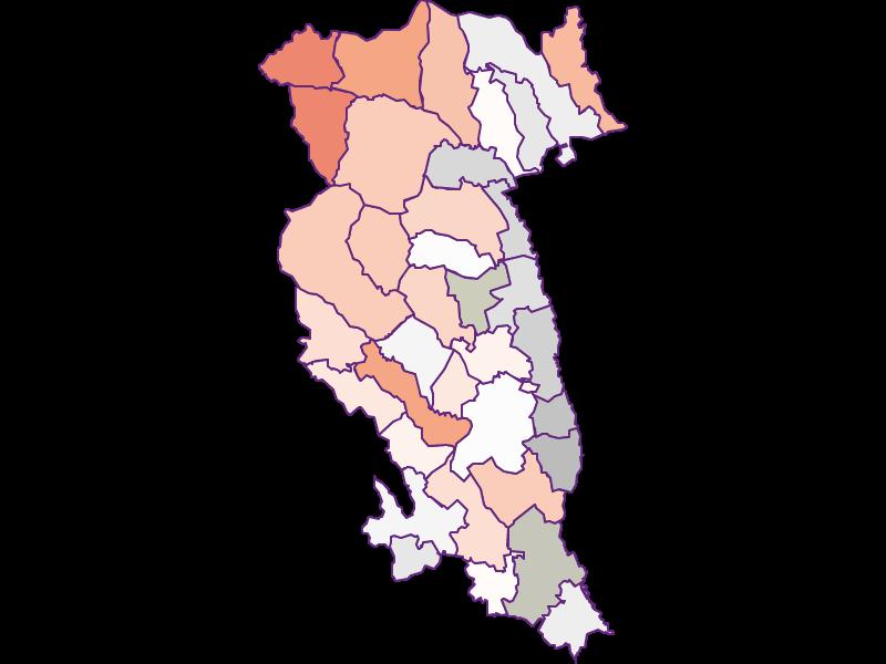 Farmers (comparison to Austria) in Hartberg-Fürstenfeld
