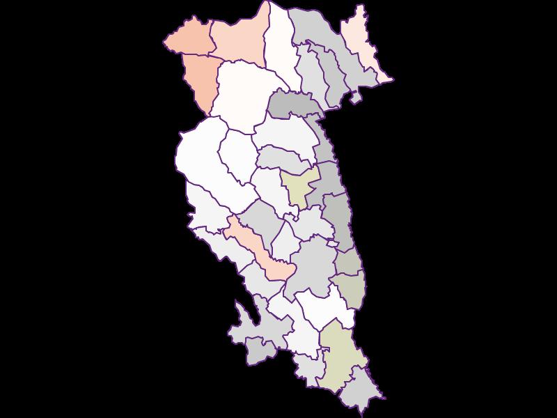 Farmers (comparison to federal state) in Hartberg-Fürstenfeld