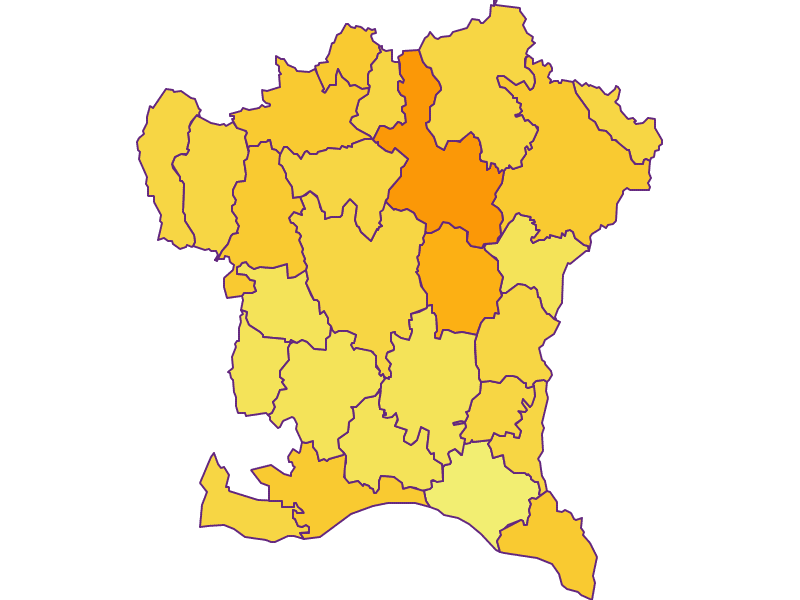 Population density in Südoststeiermark