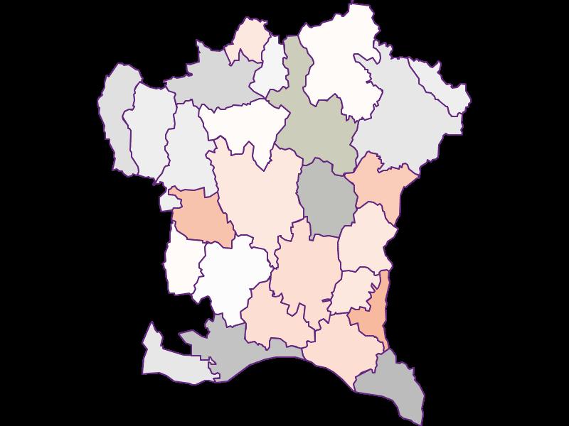 Farmers (comparison to federal state) in Südoststeiermark