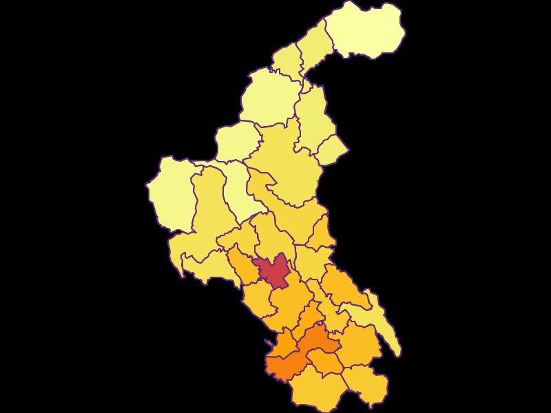 Плотность населения в Weiz