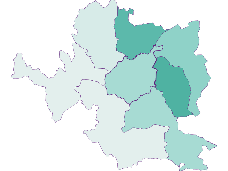 Демография с 1900 года в Steyr