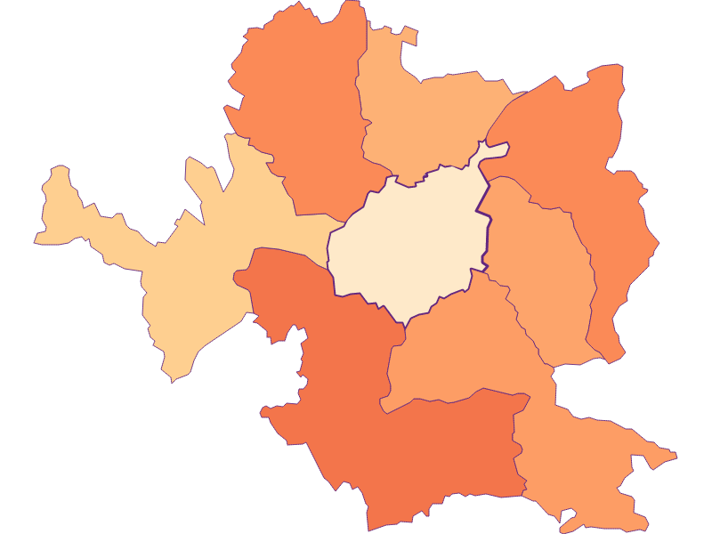Размер домохозяйства в Steyr
