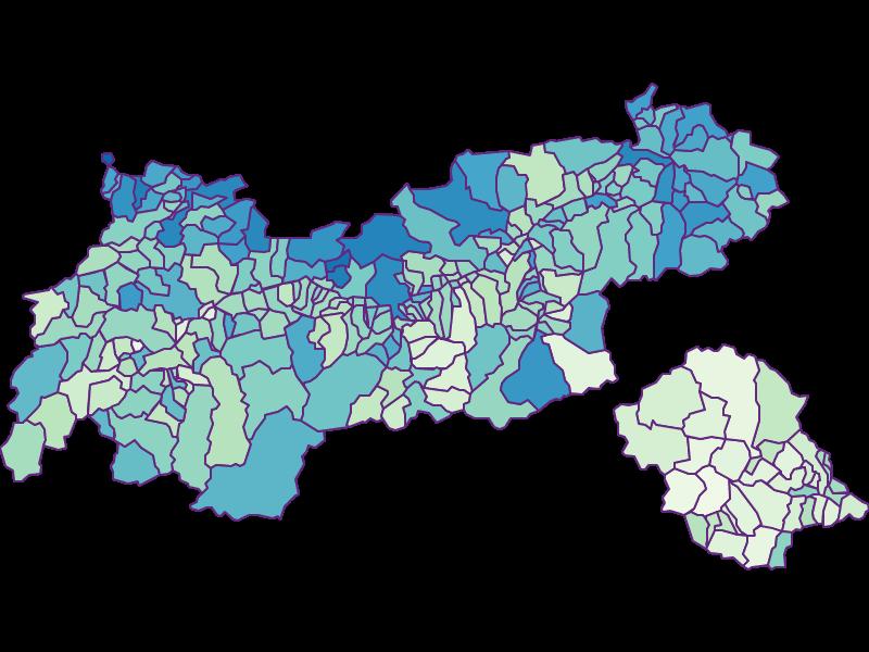 Доля иностранцев в Tirol