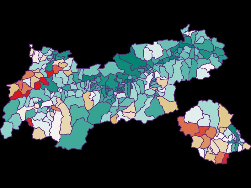 Bevölkerungsentwicklung seit 1869 | Tirol