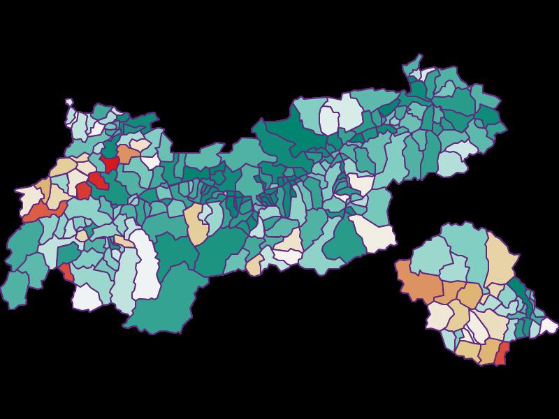 Демография с 1900 года в Tirol