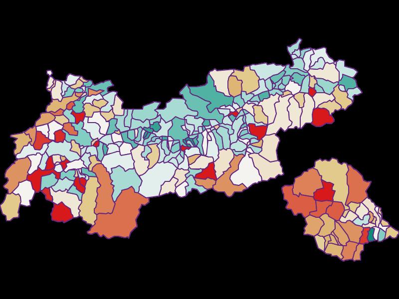 Демография с 2011 года в Tirol