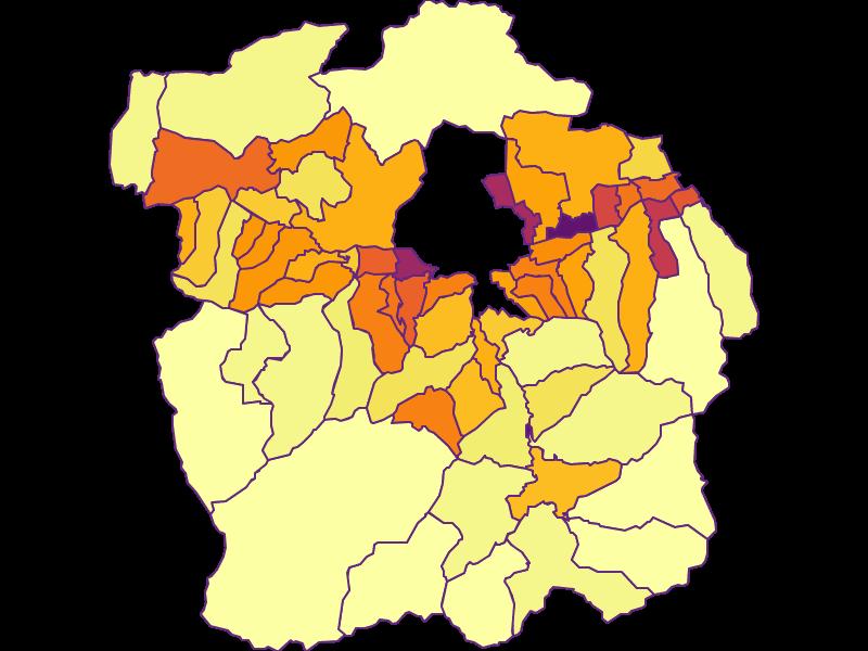 Плотность населения в Innsbruck-Land