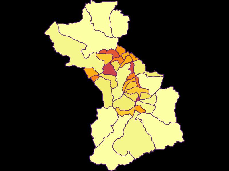 Bevölkerungsdichte in Schwaz
