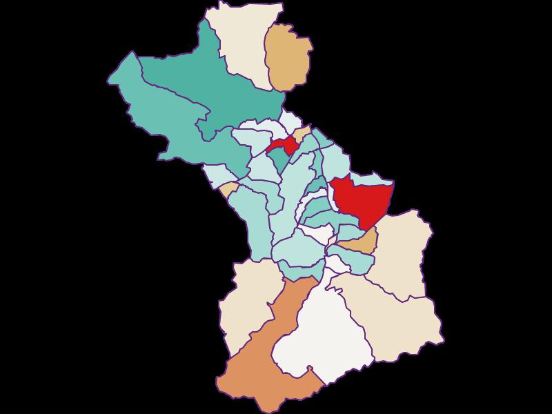 Bevölkerungsentwicklung seit 2011 in Schwaz